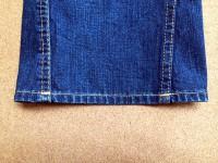 トゥルーレリジョン裾上げアタリ出し加工後