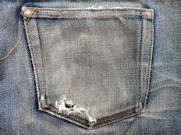 A.P.Cのバックポケット簡単リペア仕上げ前